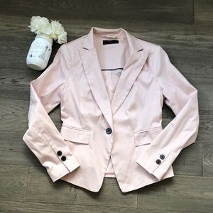 New Look   Blush pink blazer with shoulder pads